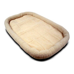 Majestic Pet - Majestic Pet Crate Pet Bed Mat - 78899503124 - Shop for Mats Covers and Foam from Hayneedle.com! Keep your favorite pet cozy and protected with the Majestic Pet Crate Pet Bed Mat. This super-comfortable pet bed mat features a stuffed bolster and a layer of poly-foam at the base for ultra-padded comfort. Machine washable this mat is available in multiple plush fabrics and shades: Sherpa (faux sheepskin) and faux fur in charcoal and honey.Extra small: 24L x 18W x 2.5H inchesSmall: 30L x 21W x 2.5H inchesMedium: 36L x 23W x 2.5H inchesLarge: 42L x 26W x 2.5H inchesExtra large: 48L x 30W x 2.5H inches