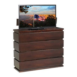 Do You Like Solid Wood? - Prism TV Lift w/ Electric Swivel