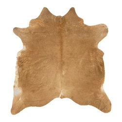 Linon - Animal Inspirations Cowhide 6'x7' Rectangle Beige-White Area Rug - The Cowhide area rug Collection offers an affordable assortment of Animal Inspirations stylings. Cowhide features a blend of natural Beige-White color. Handmade of 100% Brazilian Cow Hide the Cowhide Collection is an intriguing compliment to any decor.