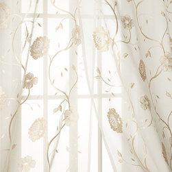 """Horchow - Each 108""""L Regal Floral Sheer - Each 108""""L Regal Floral Sheer"""