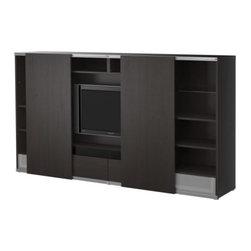 Mikael Warnhammar/IKEA of Sweden - BESTÅ/INREDA TV storage combo with sliding doors - TV storage combo with sliding doors, black-brown