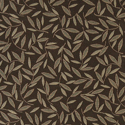 Brown Floral Leaf Residential And Contract Grade Upholstery Fabric By The Yard - P0652 is great for residential, commercial, automotive and hospitality applications. This contract grade fabric is Teflon coated for superior stain resistance, and is very easy to clean and maintain. This material is perfect for restaurants, offices, residential uses, and automotive upholstery.