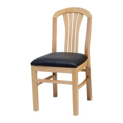 Alston - Solid Wood Side Chairs w Upholstered Seats - Finish: Honey Oak* Solid beech wood. Vinyl seat. Clean with mild soap and water. Includes 2 chairs. 18 in. W x 16.5 in. D x  31.5 in. H