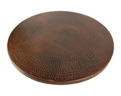 Premier Copper Products - Hand-Hammered-Copper Lazy Susan - Uncompromising quality, beauty, and functionality make up this Hand Hammered Copper Lazy Susan.