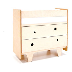Funky Forest Changing Table - This innovative crib captures the funky nature of the forest in all its asymmetry and irregularity, creating a mini-ecosystem in your nursery. It is made of highly durable NAUF (no added urea formaldehyde) multi-ply birch wood. The finishes are non-toxic, water-based wood stain.