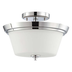 Nuvo Lighting - Nuvo Lighting 60-4087 Bento 3-Light Semi-Flush Fixture with Satin White Glass - Nuvo Lighting 60-4087 Bento 3-Light Semi-Flush Fixture with Satin White Glass