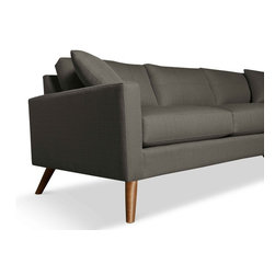 "TrueModern - Dane 78"" Condo Sofa in Calvin Dolphin - This amazing Dane 78"" Condo Sofa in Calvin Dolphin by TrueModern will make a statement all on its own. Pair this with a Dane chair for true Danish modern look. Sleek and classic shape features super slim arms and Danish legs. Sized perfect for that smaller space, it is available in calvin dolphin."