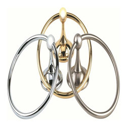Alno Inc. - Alno Creations Yale 6 Inch Towel Ring Polished Brass A9240-Pb - Alno Creations Yale 6 Inch Towel Ring Polished Brass A9240-Pb