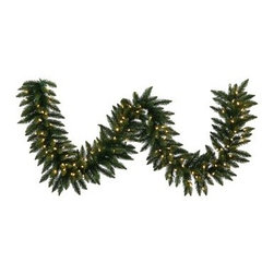 Vickerman camdon fir Pre-Lit LED Garland - The Vickerman camdon fir Pre-Lit LED Garland gives you just what you want this Christmas season. Lush, natural-looking camdon fir branches and it comes in your choice of length and width. This garland is a breeze to hang and doesn't leave you with the mess and hassle of the real thing. It's made of durable PVC for lasting beauty and comes pre-lit with warm white, energy-saving LED bulbs. About VickermanThis product is proudly made by Vickerman, a leader in high quality holiday decor. Founded in 1940, the Vickerman Company has established itself as an innovative company dedicated to exceeding the expectations of their customers. With a wide variety of remarkably realistic looking foliage, greenery and beautiful trees, Vickerman is a name you can trust for helping you create beloved holiday memories year after year.