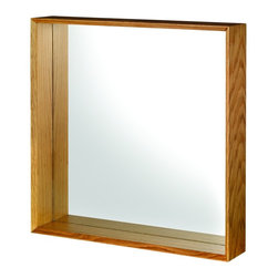 Croydex - Croydex WA683376 Wall Mirror in Oak - Croydex WA683376 Wall Mirror in OakThe Kingston range of wall mounted accessories are made of sturdy solid oak with complementary ceramic accessories and a distinctive square, chunky design, which is just right for today's modern bathroom.Croydex WA683376 Wall Mirror in Oak, Features:• Real Oak.