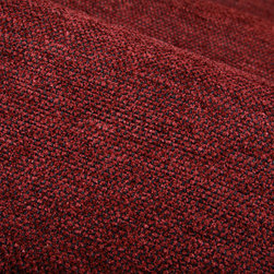 Hearty Upholstery in Plum - Hearty Upholstery in Plum.  A soft yet durable textured upholstery fabric that is classic style.  This cotton blend is designer quality at a discounted price.  Designed for sofa, bench, chair re-upholstery projects or creating large floor pillows.  Also available in Brick Red.