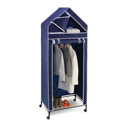 Honey Can Do - Honey Can Do 30 in. Portable Storage Closet Multicolor - WRD-01273 - Shop for Closet from Hayneedle.com! About Honey-Can-DoHeadquartered in Chicago Honey-Can-Do is dedicated to helping you organize your life. They understand that you need storage solutions that are stylish and affordable at the same time. Honey-Can-Do focuses on current design trends and colors to create products that fit your decor tastes while simultaneously concentrating on exceptional quality. When buying a Honey-Can-Do product you can be sure you are purchasing a piece that has met safety control standards and social compliance methods.