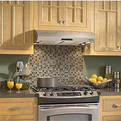 Broan - Broan Evolution 1 Series 30-inch Stainless Steel Under Cabinet Range Hood - This under cabinet range hood will look perfect in any kitchen. With a quiet 0.8 sones at normal speed, this range hood is efficient without all of the noise.