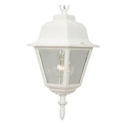 Craftmade - Craftmade Z171 Straight Glass 1 Light Outdoor Pendant - Craftmade 1 Light Pendant from the Straight Glass CollectionFeatures: