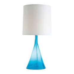 Kimmetl Carribean Blue Table Lamp by Arteriors
