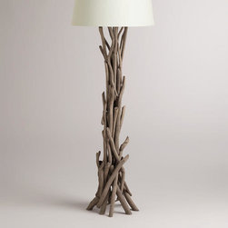 Driftwood Floor Lamp Base -