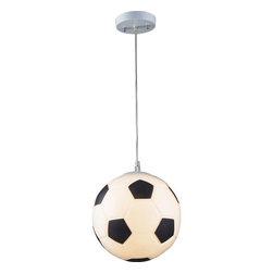ELK Lighting - ELK Lighting 5123/1 1 Light Soccer Ball Mini Pendant from the Novelty Collection - *1 Light Soccer Ball Pendant in Silver