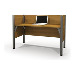 Bestar - Bestar Pro-Biz Simple Workstation in Cappuccino Cherry - Bestar - Computer Desks - 100871C68 - Smart design proven durability harmoniously combined with easy assembly in the Pro-Biz collection.