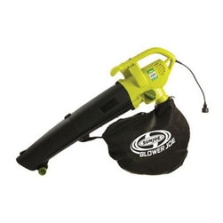 Snow Joe - 3 in 1 Electric Blower Vacuum Shredder - Powerful reliable and effective the Sun Joe Blower Joe 3-in-1 Blower Vacuum and Leaf Shredder makes yard work fun and easy. The Blower Joe SBJ604E has the versatility to change jobs with the flip of a switch. Easily convert your tool from a powerful 200MPH blower to an effective 10:1 ratio mulching vacuum. This electric blower vac is lighter quieter and cleaner than similar gas blowers. And with a sleek ergonomically design it's a tool that is easy to use and will grab your neighbors? attention.
