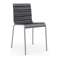 Calligaris - Online Chair, Chrome Frame, Tuxedo, Set of 2 - How's this for versatile? This chic chair comes in a range of finishes to flatter any decor and is sturdy and stackable to boot. Minimalist and masterfully curved, it's an effortlessly stylish and surprisingly comfortable addition to your space.