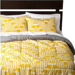 Geo Comforter: Yellow - From the Room Essentials Collection.