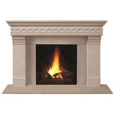 Transitional Fireplace Mantels by Omega Mantels of Stone