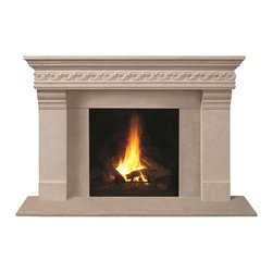 Omega Mantels & Mouldings Ltd - 1110S.555 cast stone mantel, Taupe Open Cast - This unique design will help you achieve the look you desire.