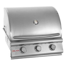 "Blaze - 3 Burner Blaze Grill 25"", Propane - 3 commercial quality 304 cast stainless steel burners"