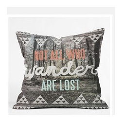 "DENY Designs - Wesley Bird Wander Throw Pillow - Wanna transform a serious room into a fun, inviting space? Looking to complete a room full of solids with a unique print? Need to add a pop of color to your dull, lackluster space? Accomplish all of the above with one simple, yet powerful home accessory we like to call the DENY Throw Pillow! Features: -Wesley Bird collection. -Color: Print. -Material: Woven polyester. -Sealed closure. -Spot treatment with mild detergent. -Made in the USA. -Closure: Concealed zipper with bun insert. -Small dimensions: 16"" H x 16"" W x 4"" D. -Medium dimensions: 18"" H x 18"" W x 5"" D. -Large dimensions: 20"" H x 20"" W x 6"" D. -Product weight: 3 lbs."