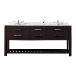 "Water Creation - Madalyn Espresso Bathroom Vanity 24"", 30"", 60"", 72"", 60"" Wide, Vanity Only - Water Creation Madalyn 60E 60"" Espresso Double Sink Bathroom Vanity From The Madalyn Collection"