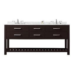 """Water Creation - Madalyn Espresso Bathroom Vanity 24"""", 30"""", 60"""", 72"""", 60"""" Wide, Vanity Only - Water Creation Madalyn 60E 60"""" Espresso Double Sink Bathroom Vanity From The Madalyn Collection"""