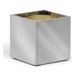 Blomus - Greens Stainless Steel Planters - Small - While stainless steel may seem inflexible to you, consider this: This planter has an insert so you can place and replace plants easily. It's lightweight enough to be mobile so your more delicate plants don't have to overwinter where they spent the summer.