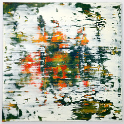 Oil on Canvas #7-2013 72inx72in - Spencer Rogers attended The Art Institute in Florence, Italy. His large format paintings demand attention on any wall.