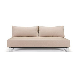 Innovation USA - Innovation USA Supremax Sleek Excess Sofa - Chrome Legs - Mixed Dance Natural - - Buy the basic sofa and choose from one of the detachable covers. Refresh your sofa by adding a new cover as time goes by!