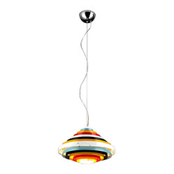 Bromi Design - Bromi Design Onyx Multicolor Round Lighting Pendant - Lighting shouldn't be boring. This dare-to-be-different pendant will bring child-like wonder to your space. It's different and fun and modern. But not boring.