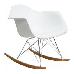 Modway Imports - Modway EEI-147-WHI Rocker Lounge Chair In White - Modway EEI-147-WHI Rocker Lounge Chair In White