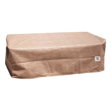 """Duck Covers 52""""L Patio Ottoman / Side Table Cover - Patio Ottoman OR Coffee Table Cover Actual Size - 52"""" L x 30"""" W x 18"""" H"""