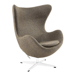 East End Imports - Glove Wool Lounge Chair in Oatmeal - The Glove Chair provides evidence of movement in design to adapt more organic forms into our living spaces. Designed to remind us of the natural world, this chair provides sheer comfort and relaxation. Get back to nature with the Glove Chair.