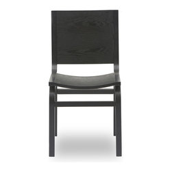 Bryght - 2 x Nes Ebony Wood Dining Chair - The Nes dining chair is an award winning, graceful bentwood design made from moulded plywood, expertly veneered in hardwood. The Nes dining chair perfectly brings together simplistic elegance with its smooth lines and a strong and sturdy sculptural design