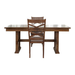 Liberty Furniture - Liberty Furniture Bistro 72x40 Trestle Dining Table - Bistro 72x40 Trestle Dining Table is a part of Bistro Collection by Liberty Furniture What's included: Dining Table (1).