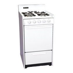 "Brown - 20"" Gas Range, Battery Ignition - Color: white