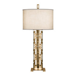Fine Art Lamps - Fine Art Lamps 787310-2ST Allegretto Gold Leaf Table Lamp - 1 Bulb, Bulb Type: 50/100/150 Watt Medium; Weight: 10lbs