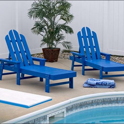 Fifthroom - POLYWOOD Chaise Lounge - Our brilliantly beautiful Chaise Lounge sets the standard for comfort, style, and durability in outdoor furniture.  With four reclining positions, it's ideal for sitting and talking, relaxing and reading, or snoozing and sunning.  Available in a dozen knockout colors, it will fit into the d�cor of any porch, patio, deck, or gazebo.  Constructed from everlasting Polywood, it can take years of the most severe weather, without decaying, chipping, peeling, or breaking.