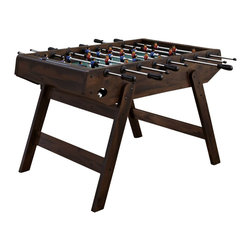 Home Styles - Home Styles Deluxe Foosball Game Table in Antique Mahogany - Home Styles - Multi-Game Tables - 600000 - Bring on the competition with the Home Styles Deluxe Foosball Game Table! The Deluxe Foosball Game Table is the perfect foosball table for a player of any skill set. Whether you're a pro or an amateur, don't miss out on hours of family fun with the Home Styles Deluxe Foosball Table!