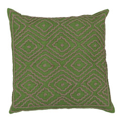 "Surya - Surya 20 x 20 Decorative Pillow, Peridot and Olive Gray (LD028-2020P) - Surya LD028-2020P 20"" x 20"" Decorative Pillow, Peridot and Olive Gray"