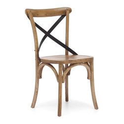 Zuo Modern - Zuo Modern Union Square Era Dining Chair (Pack of 2) X-10089 - Modeled after the most popular cafe chair in Europe, our versatile X-back dining chair comes in natural, antique black, and antique white. Frame is solid wood with antique metal accents.