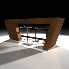 Contemporary Indoor Pub And Bistro Tables by Shelter