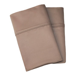 1000 Thread Count Cotton Rich King Taupe Pillowcase Set - Cotton Rich 1000 Thread Count King Taupe Pillowcase Set