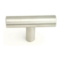 Q.M.I. - Tee Post Knob (Set of 10) - Includes mounting screws. Decorative. Easy to install. Limited lifetime warranty. Made from solid stainless steel. 2 in. W x 0.44 in. D x 1.5 in. HAdd the finishing touches to your new vanity or cabinets or instantly update the look of your room with this hardware. Our cabinet knobs beautifully compliment any homes decor.