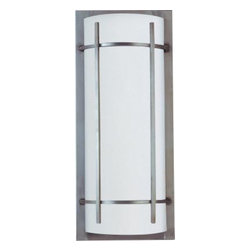 Maxim Lighting - Maxim Lighting 816WTBM Luna 2-Light Outdoor Wall Lantern in Brushed Metal - Luna EE, a contemporary Style collection from Maxim Lighting, both indoor and outdoor sconces, pendants and flush mounts available in three finishes, Brushed Metal, Natural Iron or Oil Rubbed Bronze.